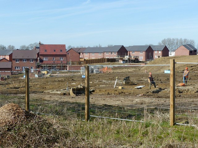 New housing development, Beeby Road, Scraptoft