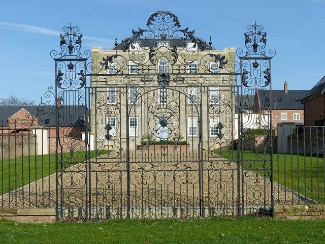 Scraptoft Hall gates