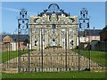 SK6405 : Scraptoft Hall gates by Alan Murray-Rust