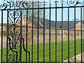 SK6405 : Scraptoft Hall gates and screen by Alan Murray-Rust