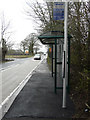 TR2143 : Bus-stop shelter, Canterbury Road (A260) by John Baker