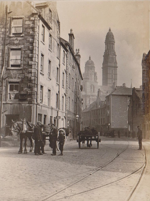 Junction of West Quay Lane and Dalrymple Street, Greenock circa 1911