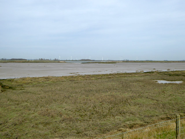 Sea wall breach at Fleet Point, Wallasea Island
