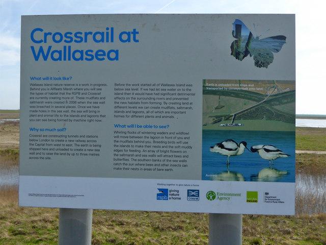 Crossrail information sign, Wallasea Island