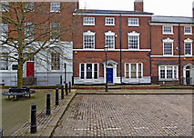 SO9198 : George Street (south side) in Wolverhampton by Roger  Kidd