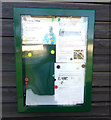 TM3674 : Notice Board on the Walpole & Cookley Community Pavilion by Adrian Cable