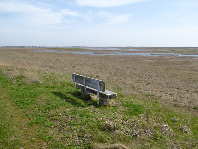 Seat with view of Jubilee Marsh, Wallasea Island