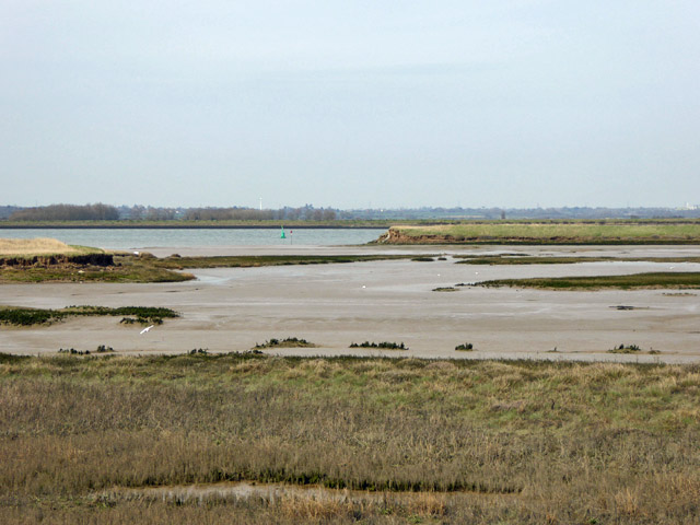 Breached sea wall, Ringwood Point, Wallasea Island