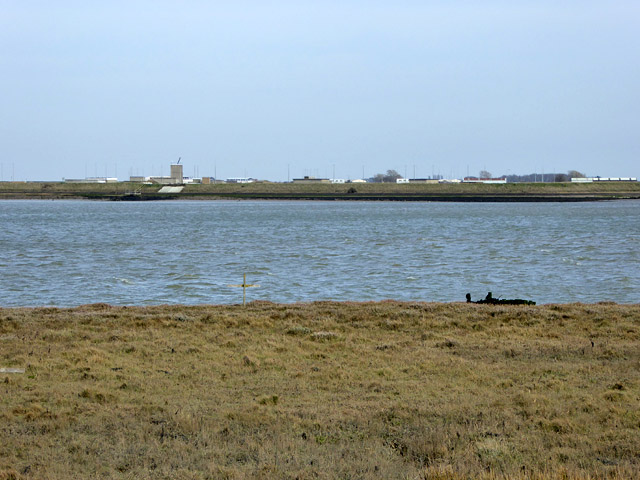 View across River Roach to Foulness Island
