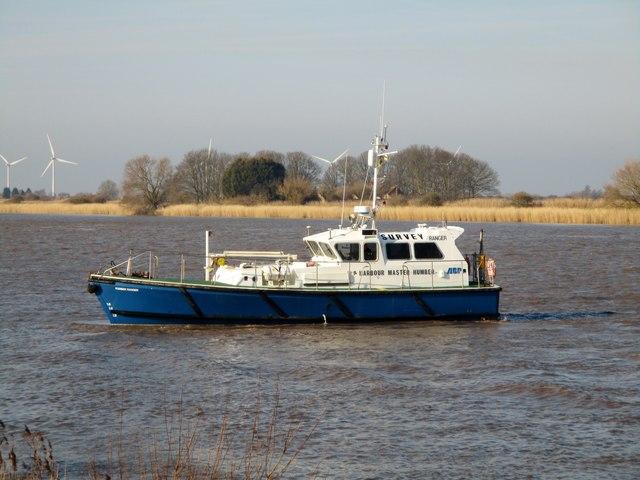 Humber  Ranger  Survey  vessel  on  River  Ouse