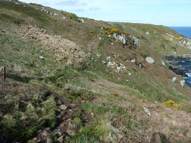 Coastal footpath, Trowan Cliff