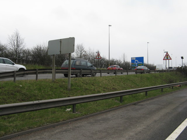The M6 at Laney Green