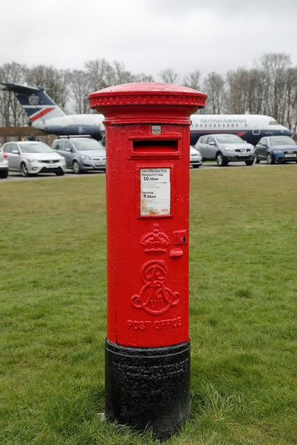 A post box at the Museum of Flight, East Fortune