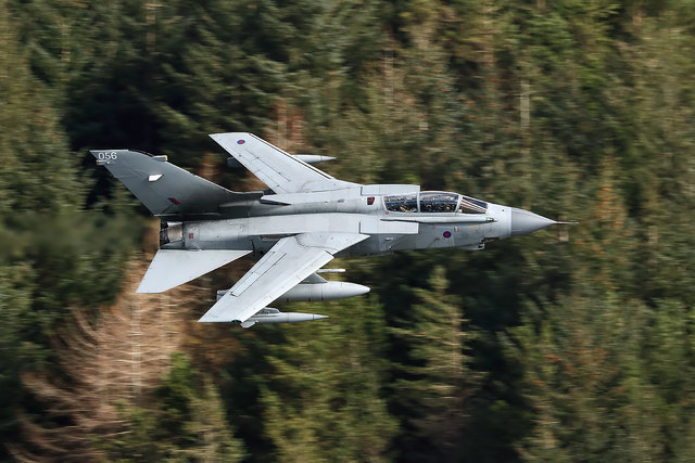 A low flying RAF Tornado in the Selkirk – Moffat Valley
