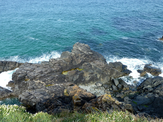Rocks, west side of Pen Enys Point