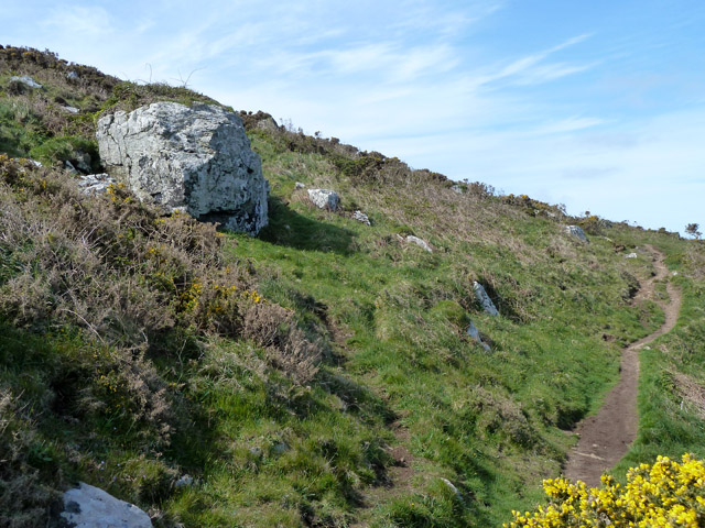 Coastal footpath, Trevalgan Cliff