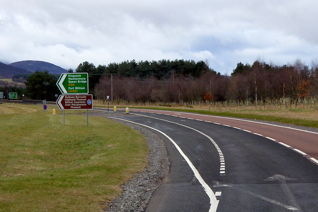 Southbound A9 at Kingussie