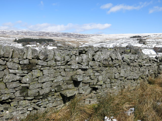 Stone stile in a dry stone wall at Moss House