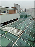 SO9198 : Roof lights on the Wulfrun Centre in Wolverhampton by Roger  Kidd