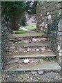 SN1121 : Entrance steps to Church of Saint Tysilio, Llandissilio by welshbabe