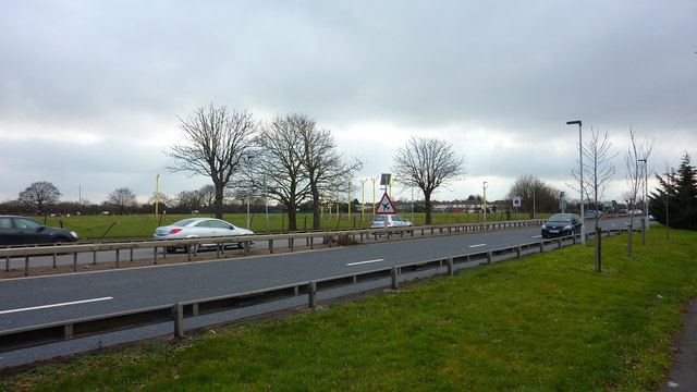 Great South-West Road (A30) at Hatton Cross