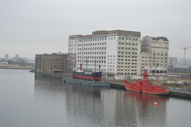Millennium Mills, SS Robin, Lightship, Royal Victoria Dock