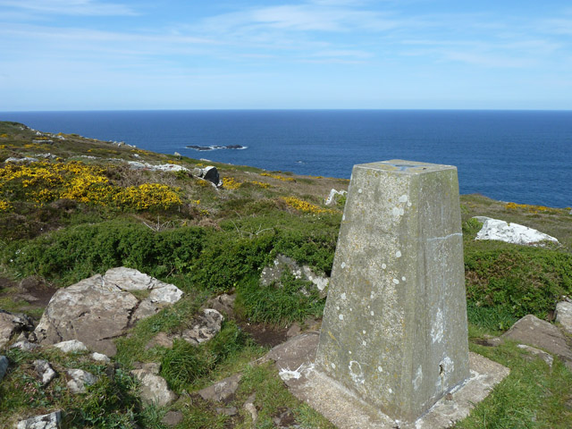 View from trig point, Trevega Cliff