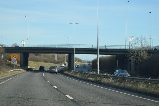 A176 overbridge, A13