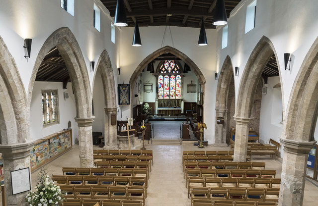 Interior, St Andrew's church, Epworth