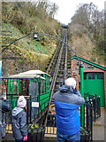 SS7249 : Lynmouth : Lynton and Lynmouth Cliff Railway by Lewis Clarke