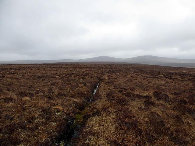 Drainage cut on the Flows bog