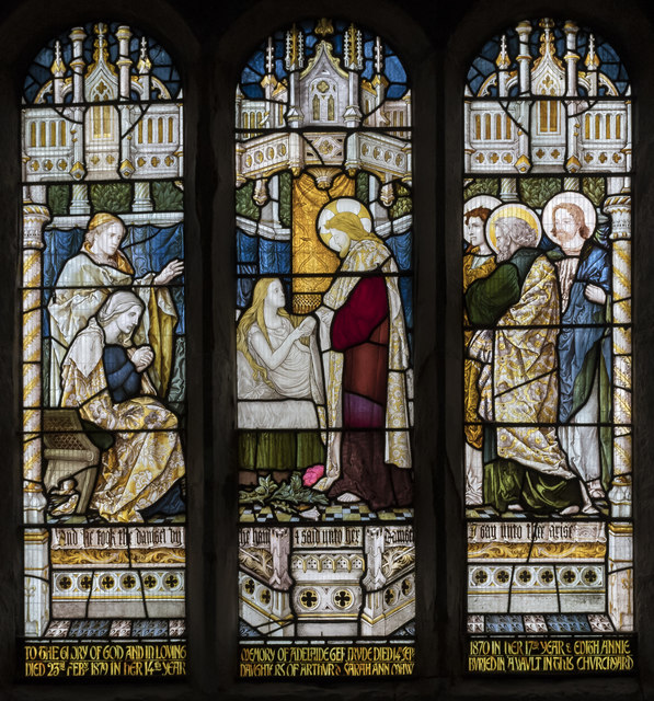 Stained glass window, St Andrew's church, Epworth