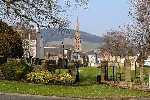 The entrance to Old Galashiels Parish Church burial ground