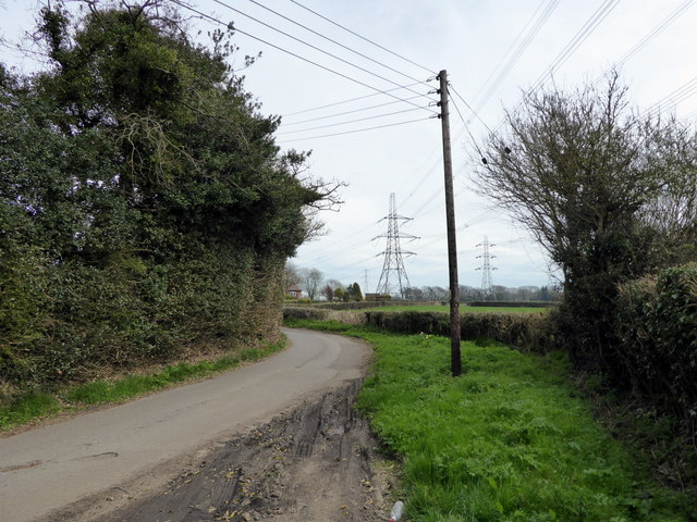 Pylons from Crouch Lane