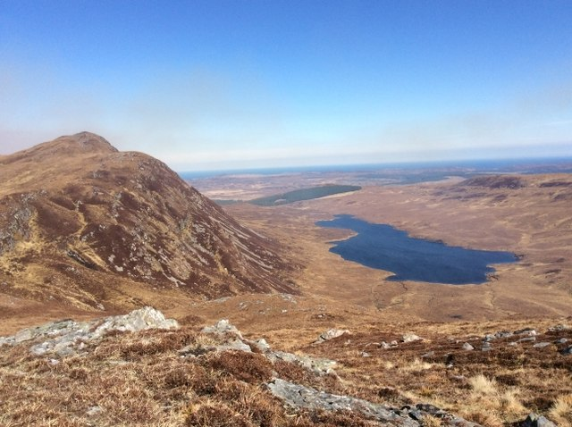 Creag Dhubh from ridge of Meall a' Bhreac