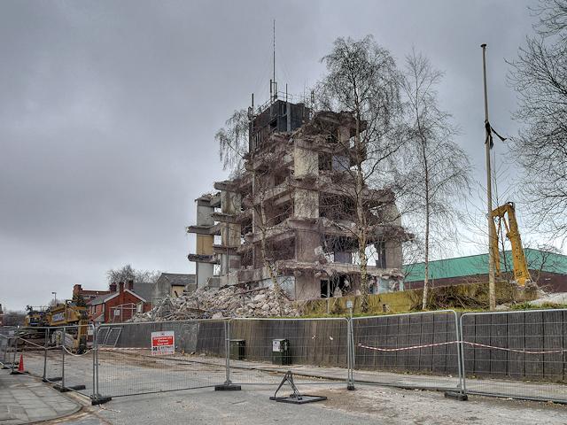 Demolition of Former Police Headquarters, Irwell Street