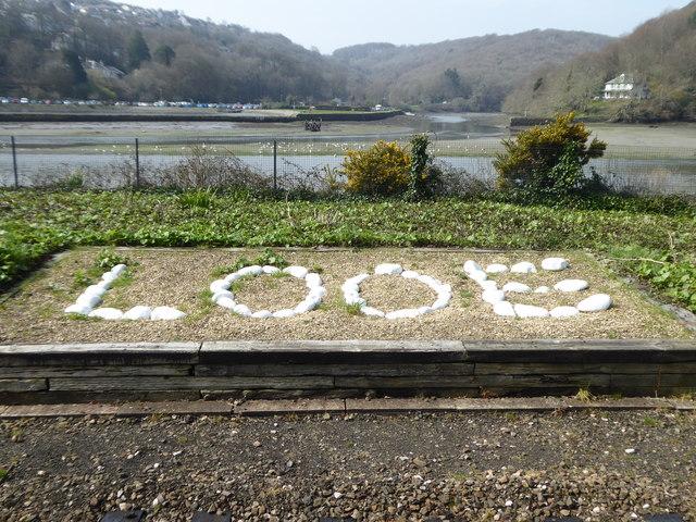 Looe station sign