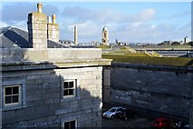 SX4653 : Royal William Victualling Yard - roofscape by N Chadwick