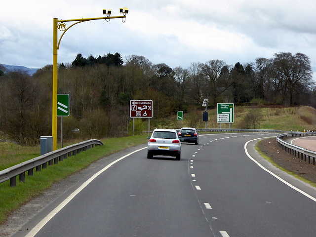 Speed Cameras on the A9 near Dunblane
