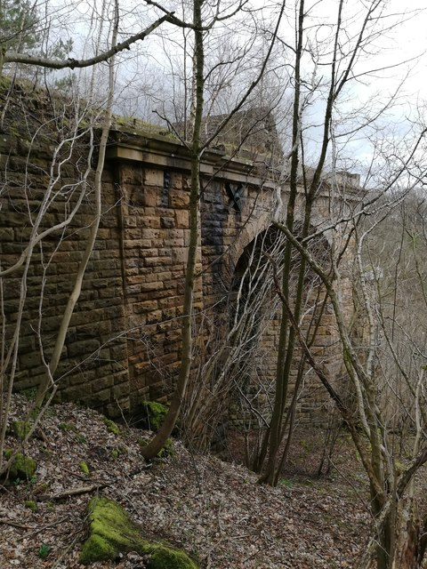 West abutment of the Tees Valley Viaduct
