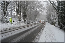 TQ5743 : Snow, A26 by N Chadwick
