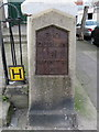 O1735 : 'Dublin 1 Howth 8' milestone in North Strand Road, Dublin by John S Turner