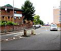 SO8555 : Midland Road pedestrian refuge, Worcester by Jaggery
