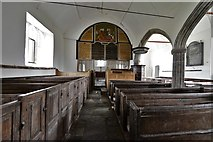 SS6744 : Parracombe, St. Petrock's Church: The nave and Word of Reformation by Michael Garlick