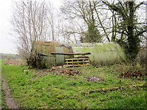 SO4382 : Old Nissen Hut near Craven Arms by Jeff Buck