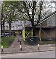 ST3188 : Evans Street telecoms cabinet near scaffolding,  Shaftesbury, Newport by Jaggery