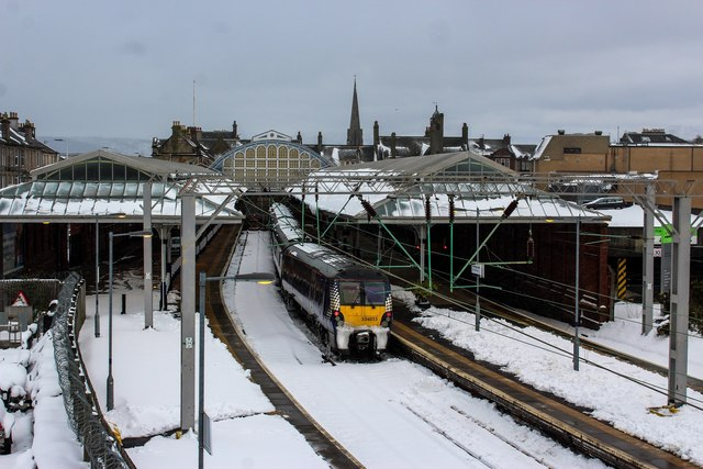 A Snowy Helensburgh Central Railway Station
