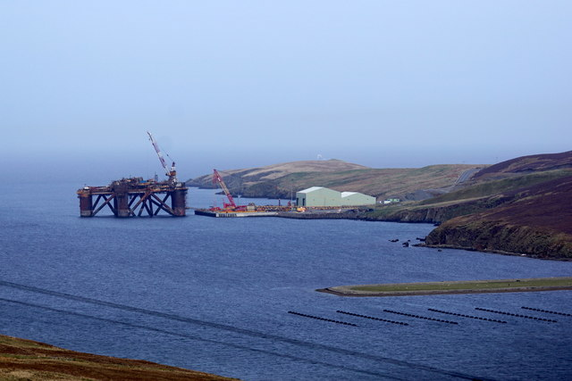 Oil rig being dismantled at Dales Voe, Lerwick