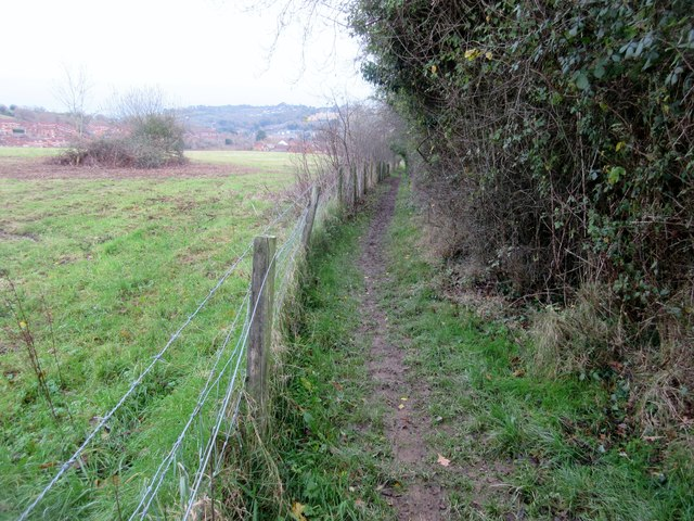 Footpath with view over Exwick
