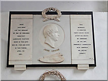 TG2209 : Memorial to John Crome in St. George Colgate church by Adrian S Pye